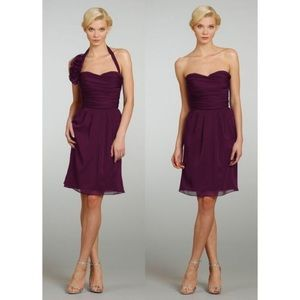 Alvina Valenta Plum Cocktail Dress